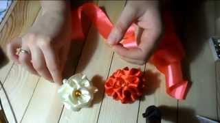 Роза на шпильке без единой капли клея ( hand made )