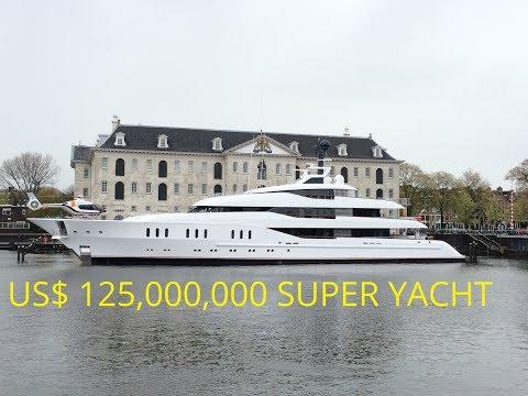 Larry van Tuyl's US$ 125,000,000 SuperYacht Vanish in Amsterdam
