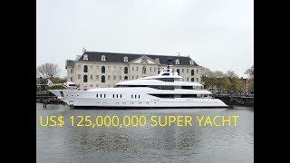 Larry van Tuyl's CRAZY US$ 125,000,000 SUPER YACHT Vanish in Amsterdam
