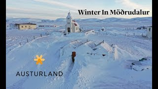 Beautiful Winter Day In Modrudalur in East Iceland, Austurland