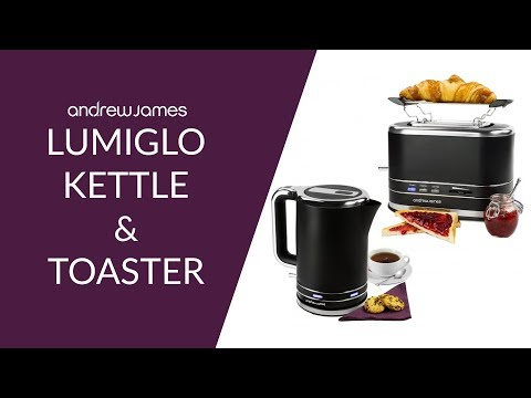 Andrew James Lumiglo Kettle & Toaster Set
