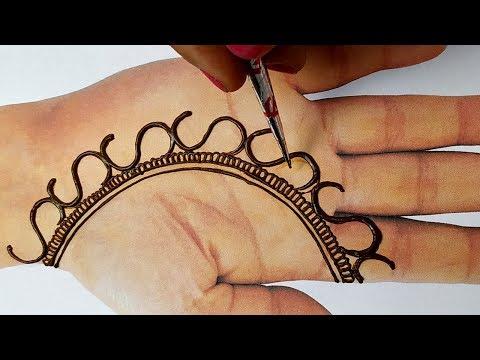 Easy Beautiful Mehndi - Latest Mehndi Trick Design Full Hand Step by Step - मेहँदी लगाना सीखे
