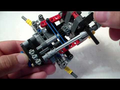 simple return to center mechanism for lego vehicles