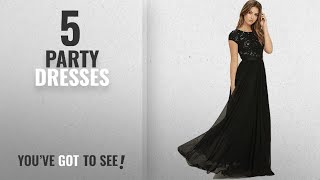 Top 10 Party Dresses 2018 Royal Export Women 39 s Black Georgette Party Wear Dress