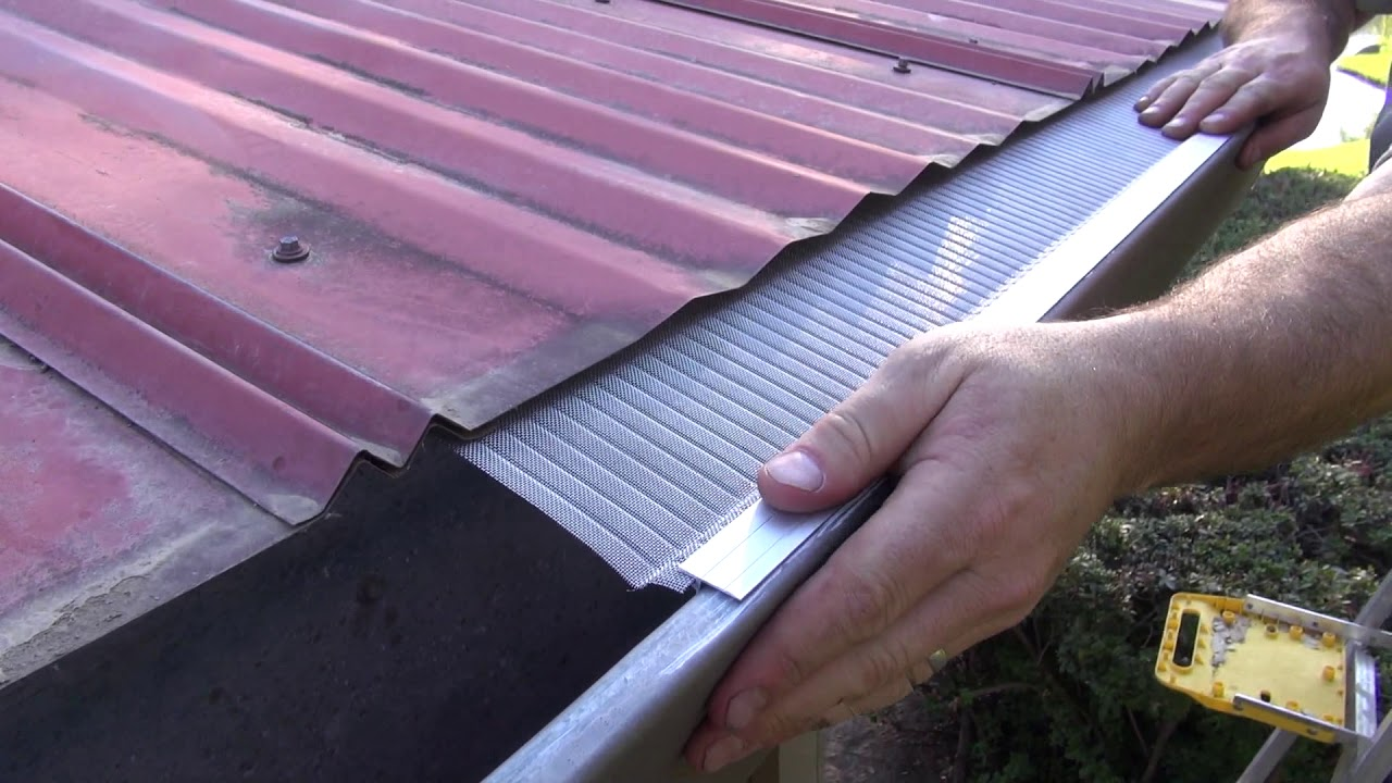Gutter Guard Install Corrugated Metal Youtube