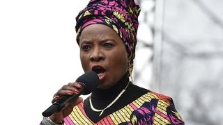 "Excerpt of Angelique Kidjo singing ""A Change is Gonna Come"" at the Women March"