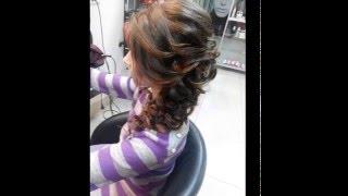 Вечерняя прическа на основе плетения (Объемная коса)
