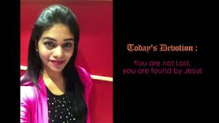 English message by Sis. Divya David | You are not Lost,  you are found by Jesus