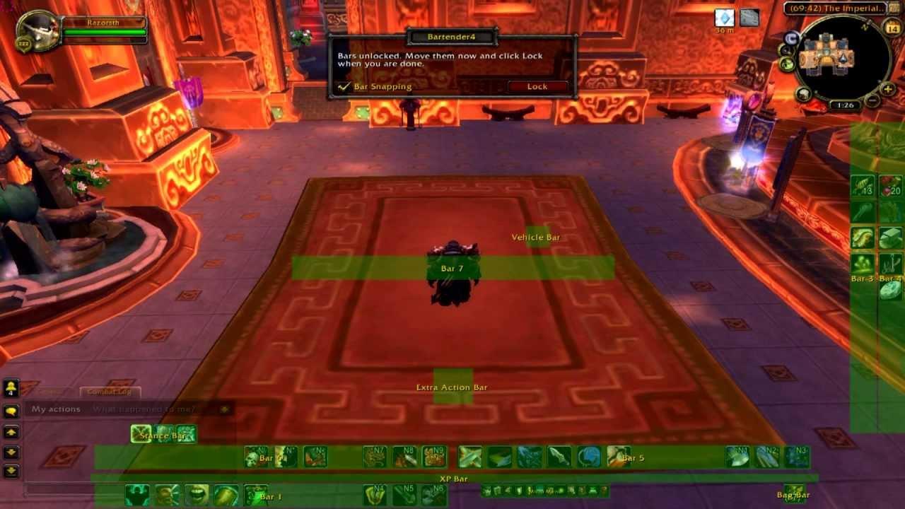 World Of Warcraft - Bartender4 - Best Setup / For Left ...  World Of Warcra...