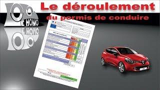 Déroulement de l'examen du permis de conduire