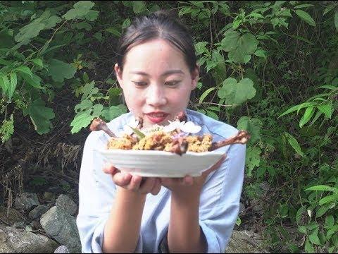 【山藥村老闆娘】農村姑娘想吃炸雞腿,裹上方便麵一炸,這種方式很少見