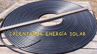 Energía Solar: Calentador de Agua con Tubo de Riego
