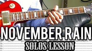 Guns N'Roses - November Rain Solo 1 & 2 Guitar Lesson (With Tabs)