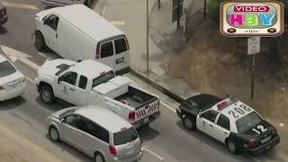 police chase los angeles and truck
