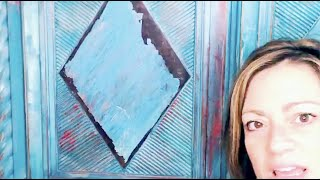 Distressing with a putty knife for a Boho finish & talking about FEAR! Quick Six with She Paints