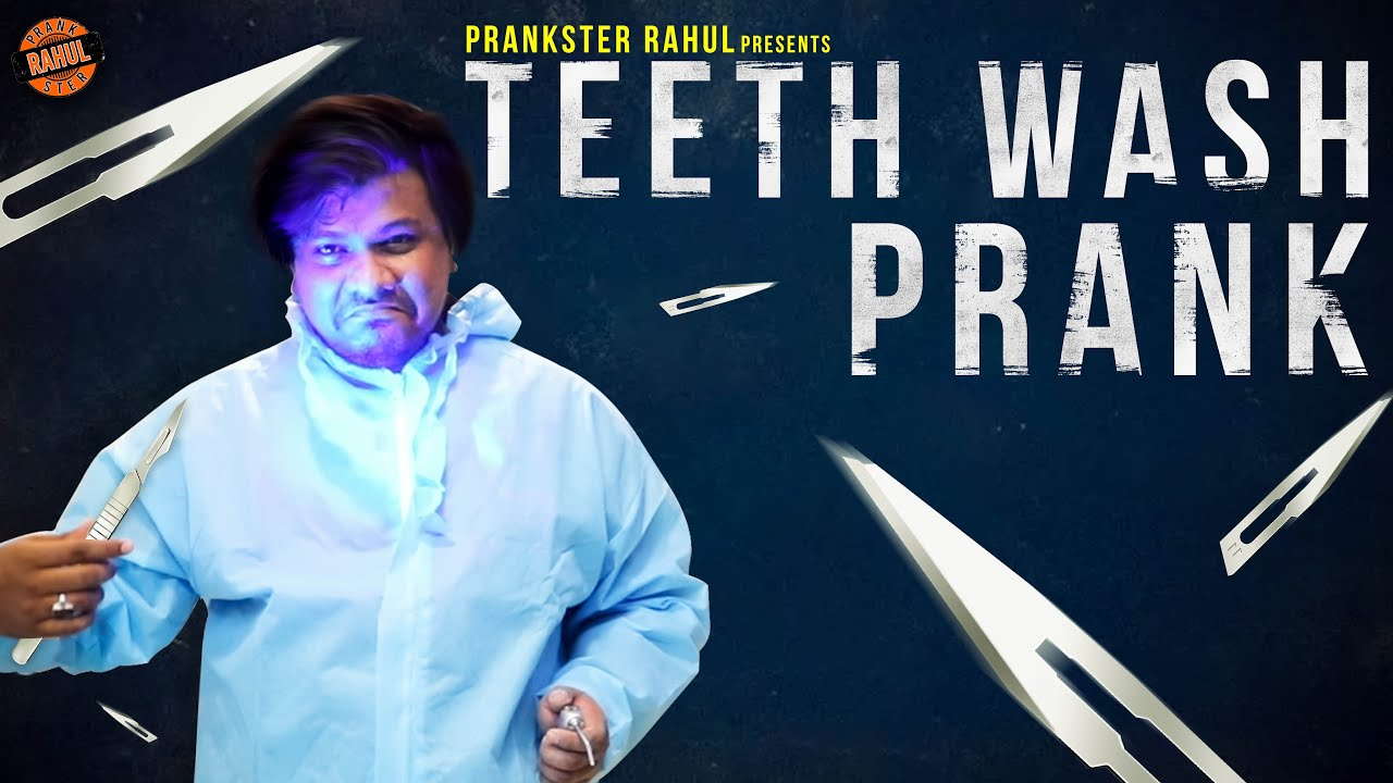 Teeth Wash Prank  Prankster Rahul  Tamil video  PSR India 2021