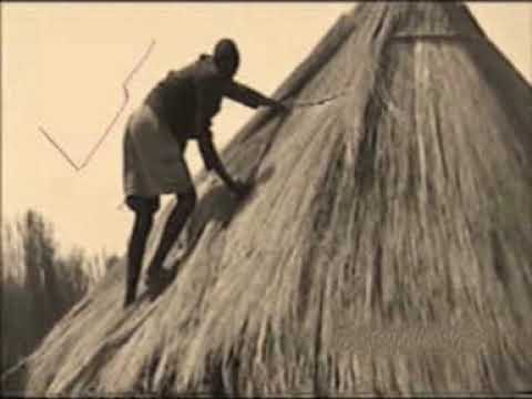 How to build your house the african way youtube for Making hut with waste material