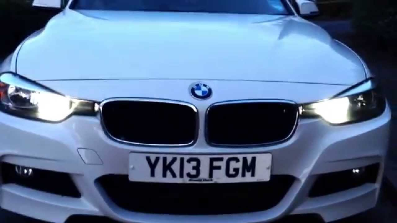 Bmw 3 Series Drl Xenon 6000k Conversion Bulbs Youtube
