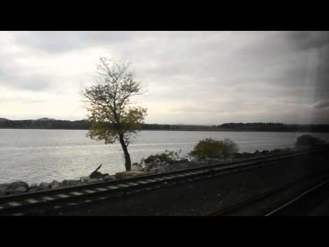 Along the Hudson River on Amtrak's Lake Shore Limited