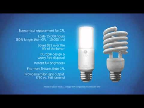 & GEu0027s LED Bright Stik Screw-in Replacement Bulbs - YouTube