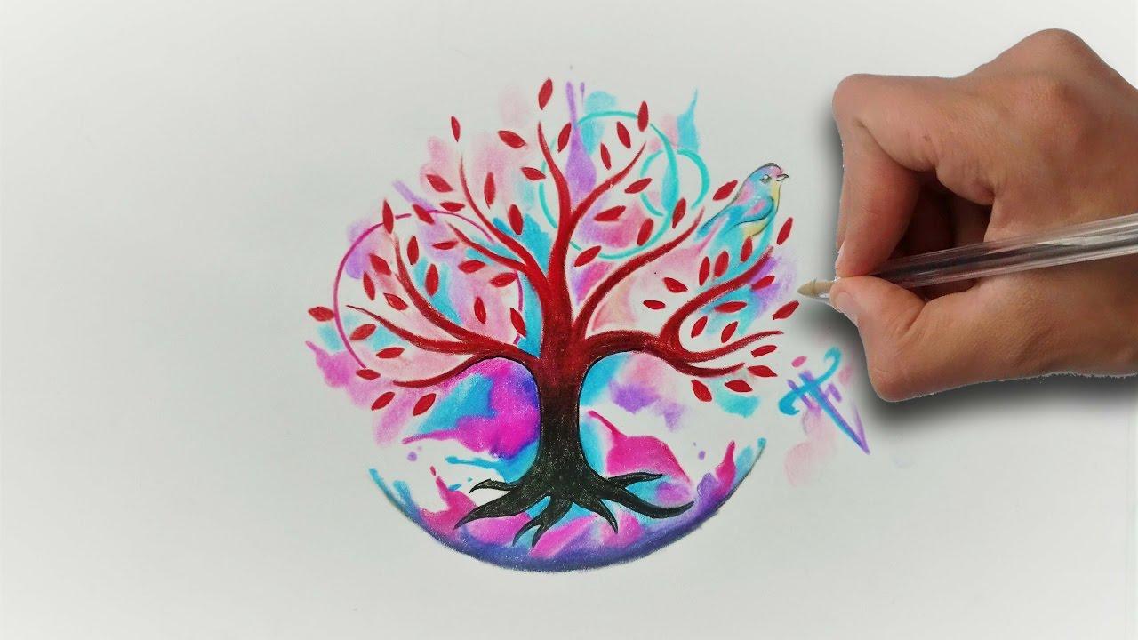 Arbol De La Vida Acuarela Aquarelle Life Tree Nosfe Ink Tattoo