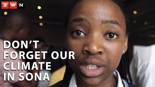 17-year-old Ayakha Melithafa asked President Cyril Ramaphosa to address and implement solutions to climate change when he addresses the nation with his fourth state of the nation address. She says she understands that South Africa has many issues but if there is no solution for the climate situation it will only amplify those problems.  #Climatechange #SONA2020 #CyrilRamaphosa