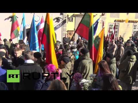 Latvia: March in Riga commemorating veterans of Waffen SS