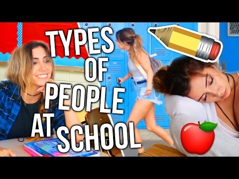 TYPES OF PEOPLE AT SCHOOL! First Day Back To High School!!