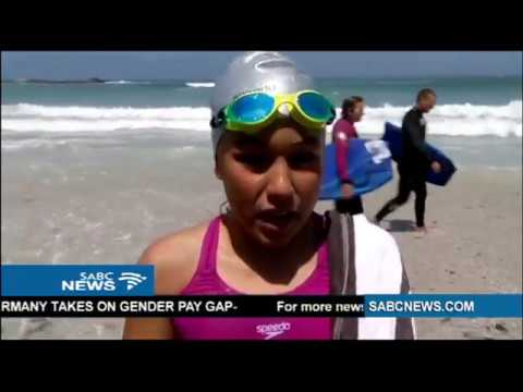 11-year-old becomes youngest female to swim Robben Island Canal