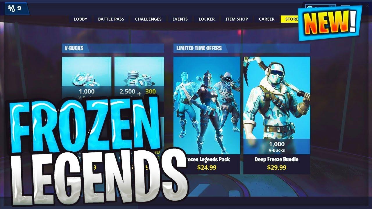 Fortnite Frozen Legends Pack Bundle 20 Frozen Raven Frozen Red