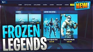 Fortnite Frozen Legends Pack Bundle 20 Frozen Raven - Frozen Red Knight - Frozen Love Ranger