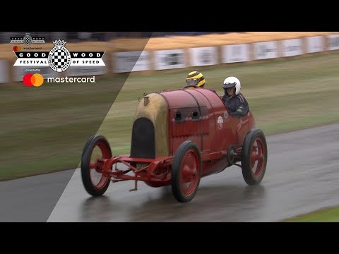 108 Year-old Flamethrowing Fiat S76 'Beast Of Turin' Slides Up FOS Hill