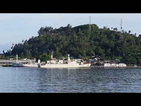 KRI.Nala (363) merapat di Dermaga Lanal Sabang