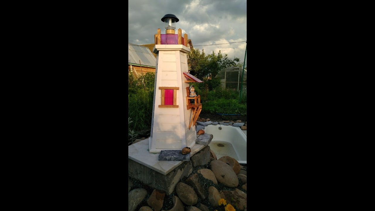 Декор для сада и огорода. Маяк из дерева. Lighthouse of wood