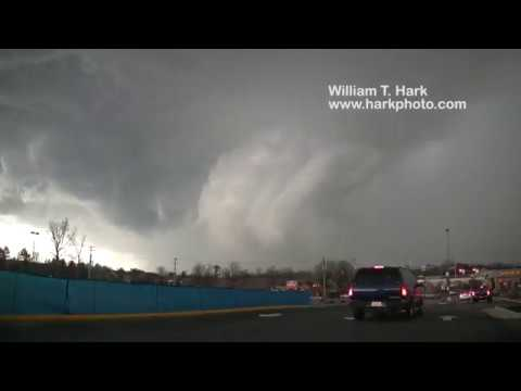 Severe storm with hail that became tornado-warned Chester, VA Feb. 25, 2017