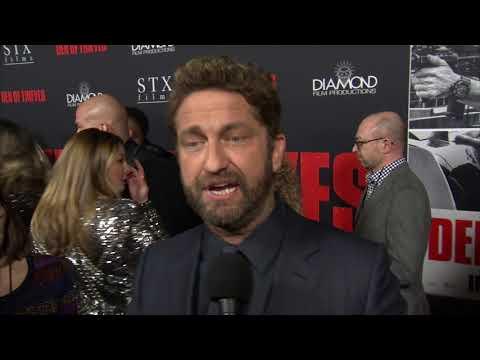 Den Of Thieves LA Premiere  Gerard Butler On Director Christian Gudegast