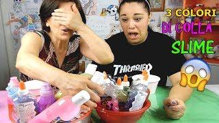3 COLORI DI COLLA SLIME CHALLENGE TRA MAMMA E FIGLIA! Iolanda Sweets