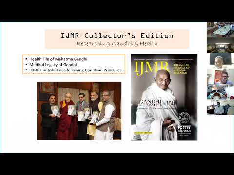 Webinar on Gandhi's perspective in times of health crisis at ICMR New Delhi