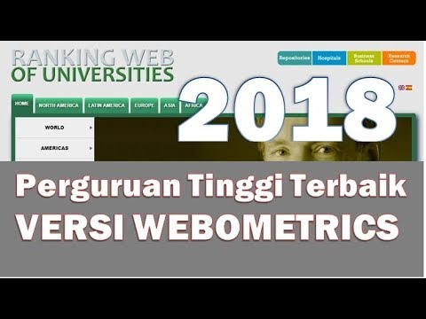 [Breaking News] Perguruan Tinggi terbaik 2018 versi Webometrics