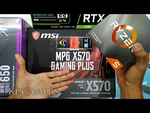 AMD Ryzen 5 3600 Msi MPG X570 GAMING PLUS Hyper X PREDATOR RGB MWE 650W GALAX RTX 2060 GAMING RIG