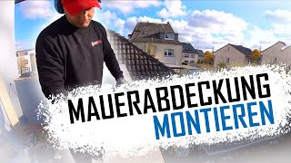 Dachdecker / Mauerabdeckung: Balkonabdeckung aus Aluminium