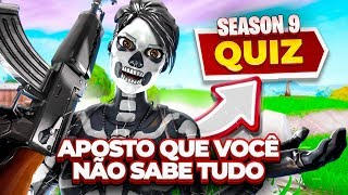 YOU KNOW ALL ABOUT SEASON 9? QUIZ FORTNITE ‹ JUAUM ›
