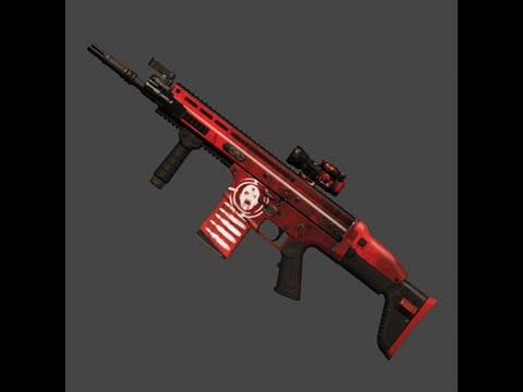 Killing Floor 2 In Game Weapon Skin Showcase (Scar | Clot Commando | Mint)