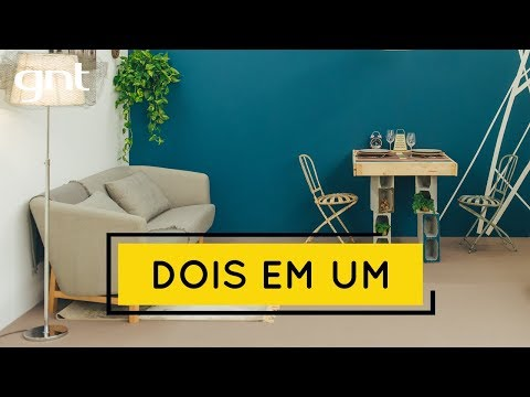 Dois espaços em um só ambiente: sala de estar e sala de jantar | Missão Design