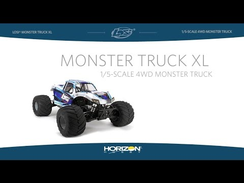 Losi Monster Truck Xl Rtr Avc 1 5 4wd Black Losi Los05009t1
