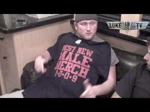 "Luke Bryan TV 2009! ""Best Merch Man"" Award"