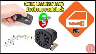Como ativar e desativar sinal sonoro ( beep) da sirene e auto-lock do alarme
