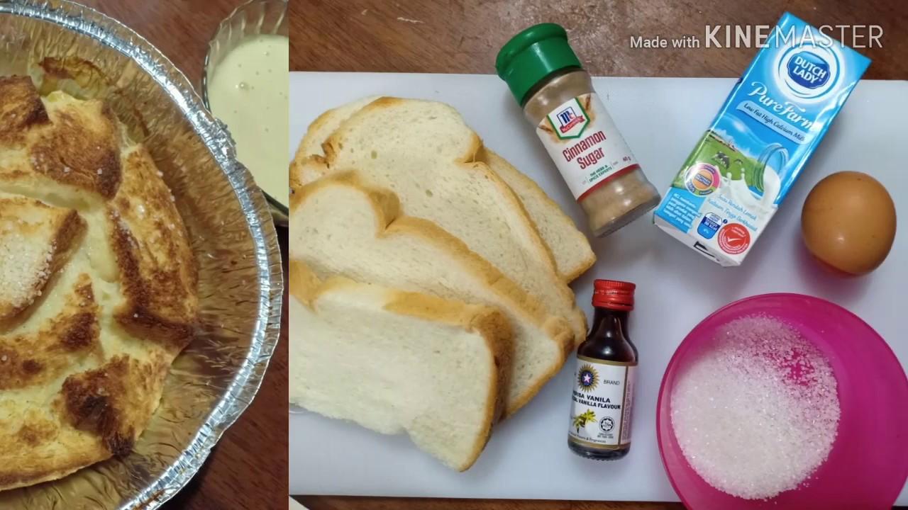resepi puding roti  sos custard sedap guna air fryer youtube Resepi Puding Roti Air Fryer Enak dan Mudah
