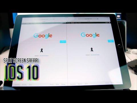 IOS 10 Split Screen Safari | IPad Pro