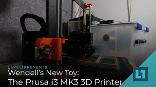 Wendell's New Toy: The Prusa i3 MK3 3D Printer